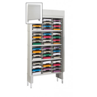 "Mail Room Security Sorters and Secure Office Organizers-36""W Security Mail Sorter, 48 Pockets, 15-3/4"" Depths"
