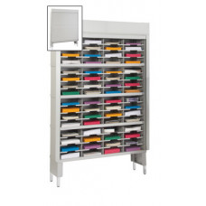 "Mail Room Security Sorter and Secure Office Organizers-48""W Security Mail Room Sorter, 64 Pockets, 12-3/4"" Deep"