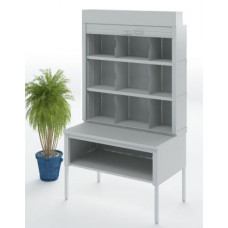 """Mailroom Security Sorter and Secure Office Organizers - 48""""W Security Mailroom Sorter,12-3/4"""" or 15-3/4"""" Depths"""