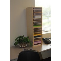 Mailroom Furniture and Office Organizers 14 Pocket Wood Sorter / Office Organizer