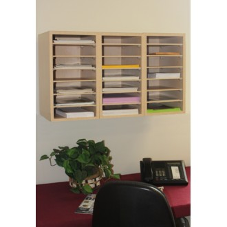 Merveilleux Mailroom Furniture And Office Organizers 21 Pocket Wood Sorter/Office  Organizer (Shown Wall Mounted)