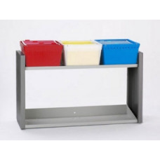 Mailroom Furniture Extra Long Filing Station for Removable Totes