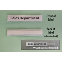 Mailroom Shelf Identification Deluxe Adhesive Backed, Plastic ID Shelf Labels with Cardboard Insert (Pkg 25)