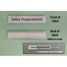 Mailroom Shelf Identification Deluxe Adhesive Backed, Plastic ID Shelf Label with Cardboard Insert (Pkg 25)