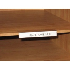 Mailroom Shelf Identification Adhesive Backed, Multi Purpose Plastic Shelf I.D. Label
