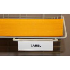 Shelf Identification Hook-on Wire Shelf Labels (25 Pack)