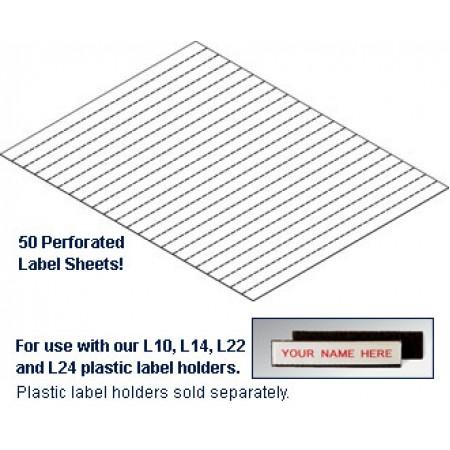 label inserts