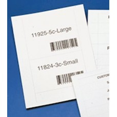 "Label Inserts 100 Label Tabs and Instruction Sheet for 6"" x 4"" High Labels"