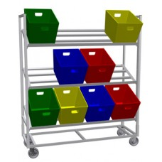 Tote Rack Mobile Triple Tote Rack (Holds 12 Totes Not Included)