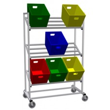 Mobile Triple Tote Rack (Holds 9 Totes Not Included)