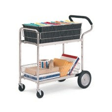 Office and Mail Carts Medium Wire Ergo File Mail Cart