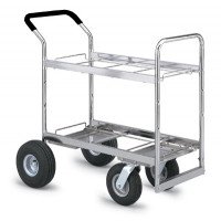 Mail Room and Office Carts Mail Cart Frame Only with 2 Caster and Wheel Options