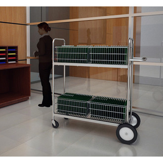 """Mail and Office Carts 52""""H, Long Mail Cart"""