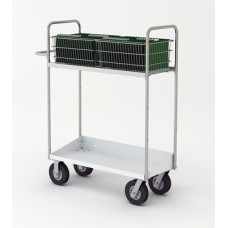 """Mail Room and Office Carts 52""""H Long Mail Cart with Lower Tray"""