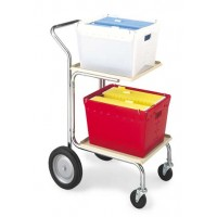 Compact Office and Mail Cart Includes 2 Corrugated Plastic Totes