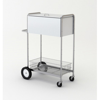 "52""H,Tall Solid Steel Security Mail Cart with Locking Top"