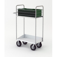 """Mail Room and Office Carts 52""""H, Tall Medium Mail Cart with Lower Tray"""