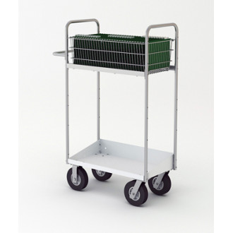"Mail Room and Office Carts 52""H, Tall Medium Mail Cart with Lower Tray"
