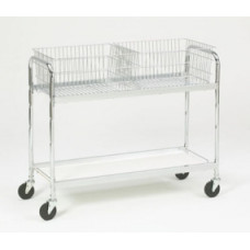 Long Office Cart with 2 Removable Baskets
