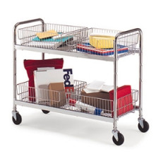 Long Parcel Mail or Office Cart