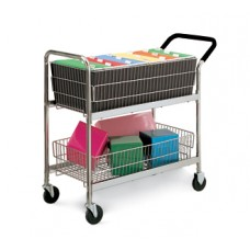 Mail Room and Office Carts Medium Wire Basket Mail Cart