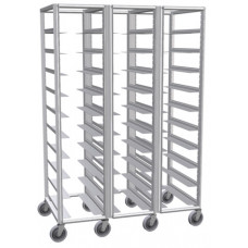 Aluminum Triple Row Tray Cart