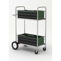 "Mail Room and Office Carts 52""H, Tall / Medium Double Decker Mail Delivery Cart"