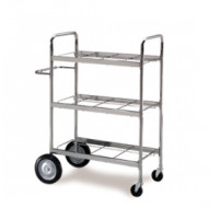 Medium. Triple-Decker  Mail Distribution Cart Frame