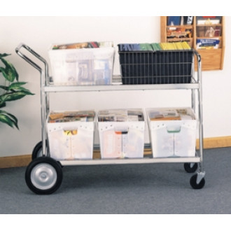 Mail Room, Office and Warehouse Carts Jumbo Distribution Bulk Mail Cart - Includes Plastic Bins