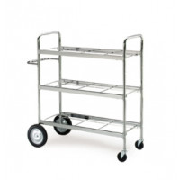 Mail Room and Office Carts Extra Long Triple Decker Frame Mail Distribution Cart