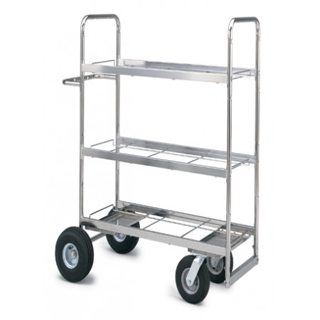 Mail Room And Office Carts Medium Triple Decker Mail Cart With Your Choice  Wheels