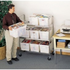 """Mobile Bulk Mail Mover 52""""H, 9 Tote Cart - Totes sold separately"""