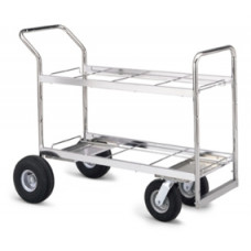 Mail Room and Office Carts Long Double Decker Frame Cart