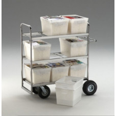 Heavy Duty Mail Tote Cart With 9 Totes