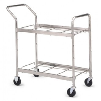 "Medium Double-Decker Frame Cart With 4"" Caster"