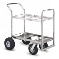 Mail Room Carts Medium Double Decker Frame Cart with Casters and Wheel options