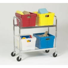 Mail Room and Office Carts Charnstrom Mobile 4-Tote Cart (Cart Only)