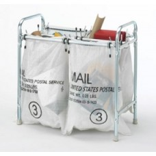 Charnstrom Mailroom Furniture Stationary 4 Bag Holder, Mailbag Rack