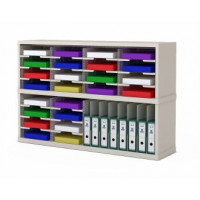 "Mail Room Sorters and Office Organizers 48""W x 12-3/4""D Sorter with Horizontal and Vertical Pockets"