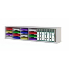 "Office Organizers and Mail Room Consoles 72""W x 12-3/4""D Sorter with Horizontal and Vertical Pockets"
