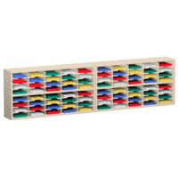 "Mail Room Furniture and Office Organizer with120""W x 12-3/4""D, 80 Pocket Sorter with 11-1/2""W Shelves"