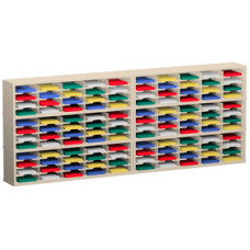 "Mail Room Furniture and Office Organizers 120""W x 15-3/4""D, 120 Pocket Sorter with 11-1/2""W Shelves"