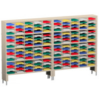 "Mail Room Furniture and Office Organizer 120""W x 15-3/4""D, 160 Pocket Mail Sorter with Lower Leg Risers"