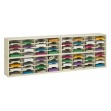 "Mail Center Furniture and Office Organizer - 96""W x 15-3/4""D, 64 Pocket Sorter with 11-1/2""W Shelves"