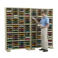 "Mail Room Furniture and Office Organizers 96""W x 12-3/4""D, 160 Pocket Mail Sorter with 11-1/2""W Shelves"