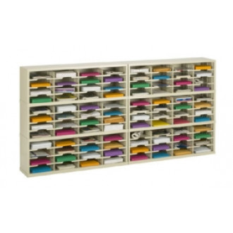 """Mail Room Furniture and Office Organizers 96""""W x 12-3/4""""D, 96 Pocket Mail Sorter with 11-1/2""""W Shelves"""
