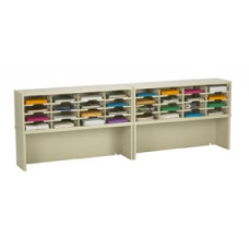 """Mail Room Furniture and Office Organizers 96""""W x 12-3/4""""D, 32 Pocket Sorter with 11-1/2""""W Shelves"""
