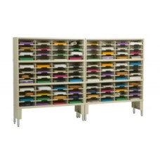 "Mail Room Furniture and Office Organizer 96""W x 12-3/4""D, 96 Pocket Sorter with Leg Risers"