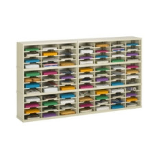 "Charnstrom Mail Room Furniture and Office Organizers - 84""W x 12-3/4""D Sorter, 84 Pockets with 11-1/2""W Pockets"
