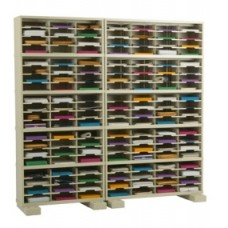 "Mail Room Furniture and Office organizer - 84""W x 15-3/4""D, 140 Pocket Sorter with Adjustable Height Pockets"